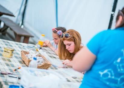 A kreatív sarok idén is teret adott a fiatal tehetségeknek